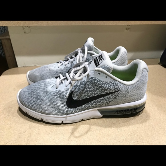 separation shoes a6f27 9be94 ... promo code for nike air max sequent 2 grey black white men 13 220df  e6a76